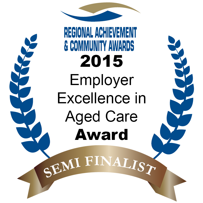 Shepparton Villages - Semi-finalist in the Prime Super Employer Excellence in Aged Care Award, part of the Victorian Regional Achievement and Community Awards.